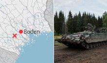 Танк вооруженных сил Швеции провалился под лед