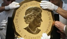 Измузея Берлина украли стокилограммовую монету номиналом вмиллион долларов