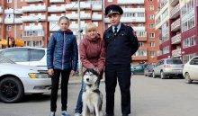 ВИркутске женщине-инвалиду вернули похищенную собаку породы хаски