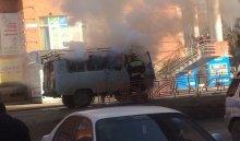 ВИркутске горел автомобиль марки «УАЗ»