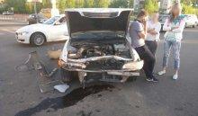 ВАнгарске врезультате столкновения Toyota Mark IIиMazda Demio пострадала 5-летняя девочка (Видео)