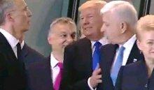 Трамп оттолкнул премьера Черногории насаммите НАТО