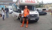 В Иркутск прибыл известный ультрамарафонец Александр Капер, который пробежит 8 тысяч км за 200 дней