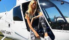 ВИркутске частный вертолет прилетал наплощадку ТРК «Комсомолл» за«Мисс Россия» Полиной Поповой