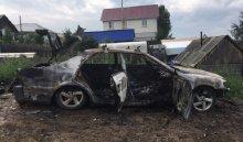 В Иркутске ночью 20 августа угнали и подожгли автомобиль Toyota Chaser