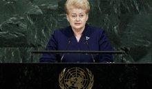 Делегация России покинула зал Генассамблеи ООН перед выступлением президента Литвы
