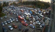 В центре Иркутска автомобилисты встали в 8-балльных пробках