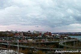 Вид на Академический мост, ул. Старокузьмихинская, Иркутск