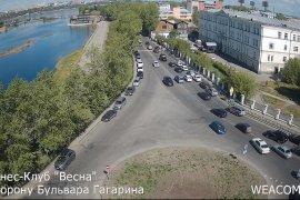Онлайн-камера на здании фитнес-клуба «Весна», в сторону бульвара Гагарина