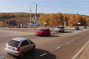 Култукский тракт - поворот в Маркова со стороны Шелехова (светофор)
