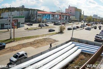 Мебельный центр «Москва», вид на ул. Сергеева