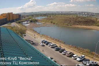 Онлайн-камера на здании фитнес-клуба «Весна», в сторону ТРК «Комсомолл»