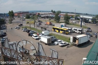 """Онлайн-камера на улице Трактовая, рынок """"Бакалея"""", Иркутск"""