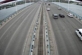 г.Иркутск, Академический мост, в сторону Университетского