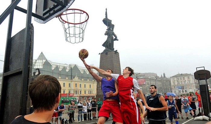 76 команд из разных районов Приангарья сыграли в уличный баскетбол