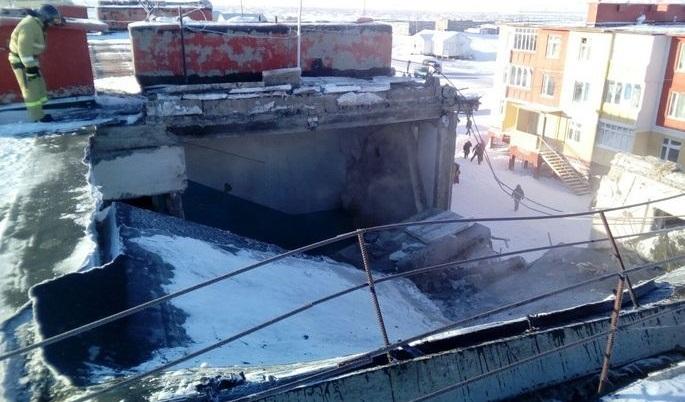 НаЧукотке из-за взрыва бойлера обрушились перекрытия трехэтажного жилого дома