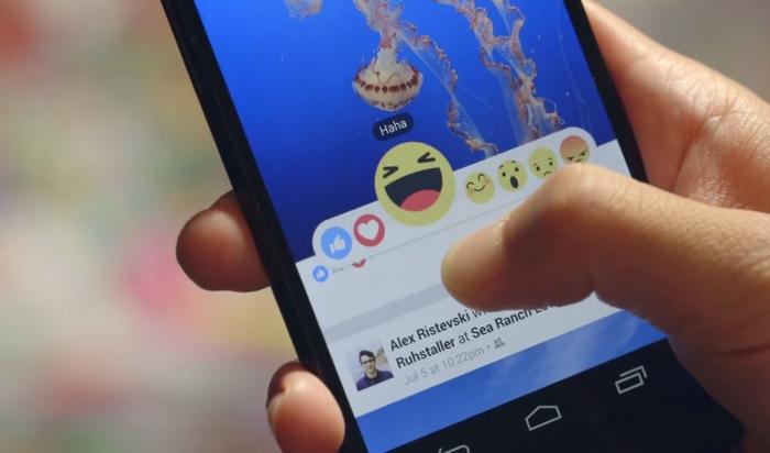 Facebook ввел пять альтернатив кнопке Like
