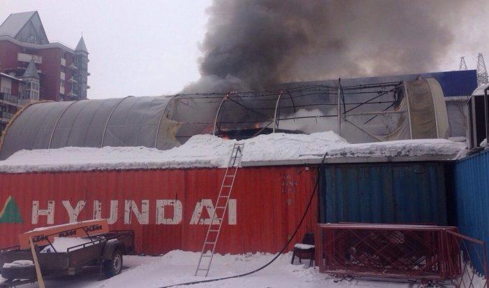 В Иркутске сгорела  яхта