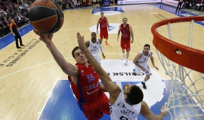 Баскетбольный ЦСКА победил «Реал» врамках Топ-16Евролиги