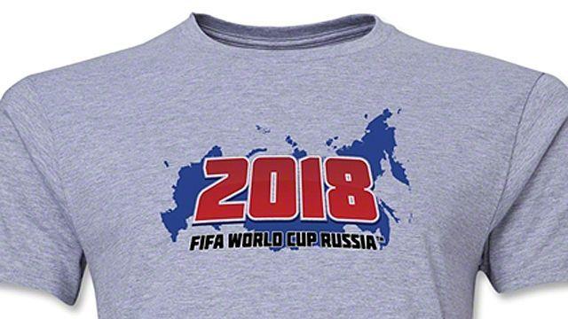 ФИФА изымет изпродажи футболки сизображением карты России без Крыма