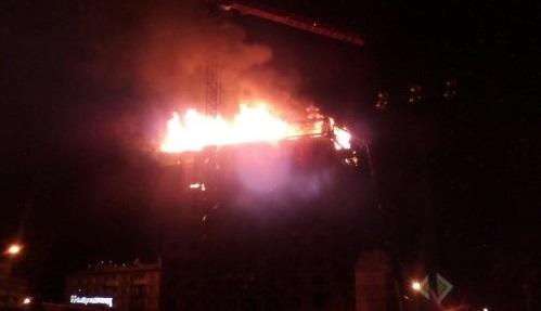 ВИркутске горел строящийся 12-этажный дом на улице Касьянова