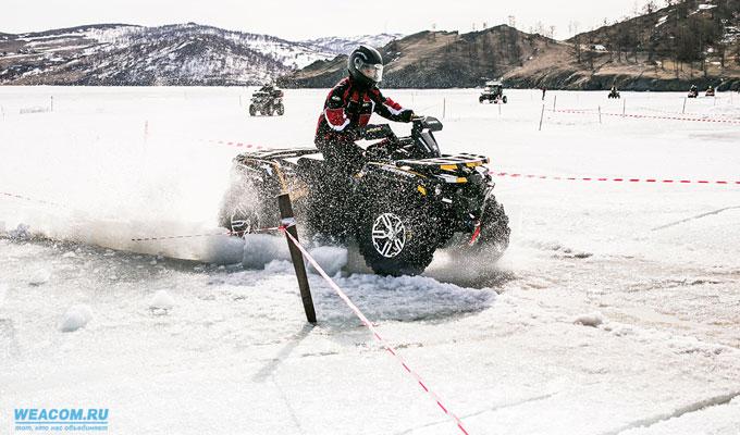 Первый фестиваль экстрима прошел на льду Байкала