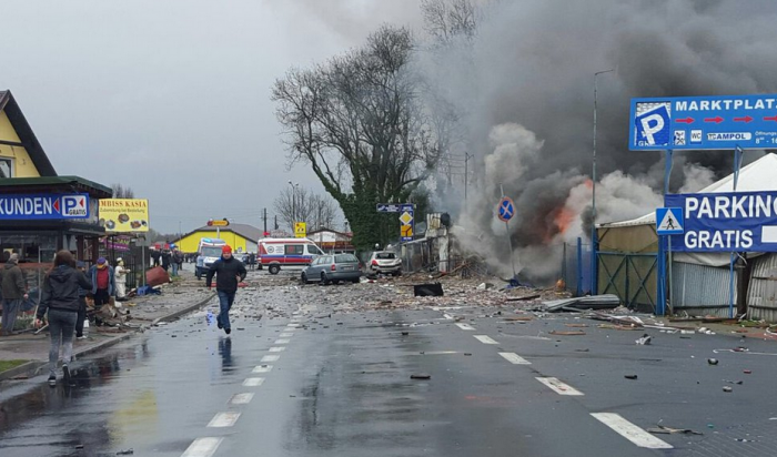 Награнице Польши иГермании прогремел мощный взрыв (ВИДЕО)