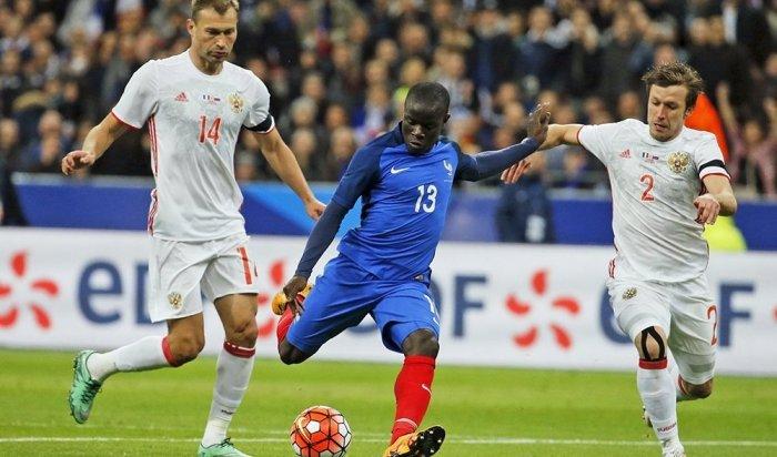 Сборная России проиграла французам втоварищеском матче
