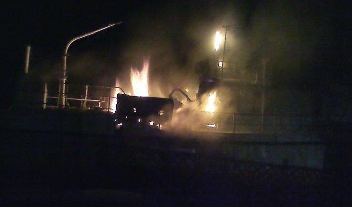 ВБайкальске сгорел катер