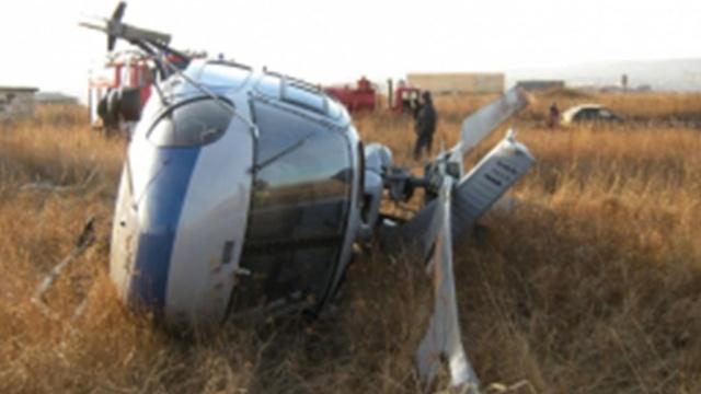 Вертолёт совершил жёсткую посадку в Кабардино-Балкарии, задев линию электропередачи