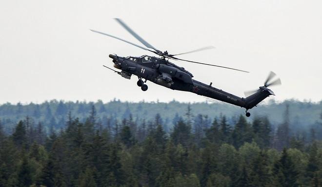 Российский боевой вертолет Ми-28Н разбился вСирии