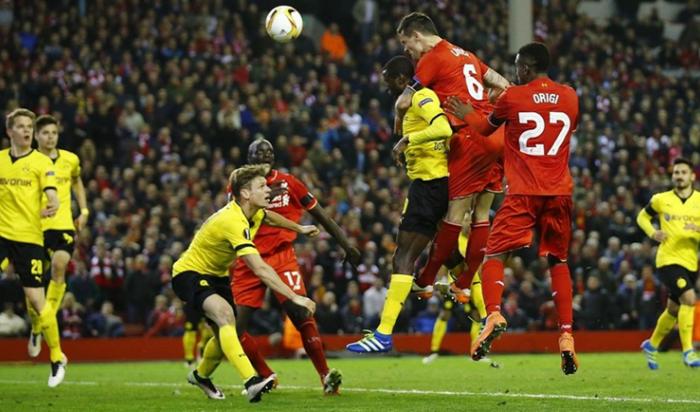 «Ливерпуль» победил дортмундскую «Боруссию» ивышел вполуфинал Лиги Европы