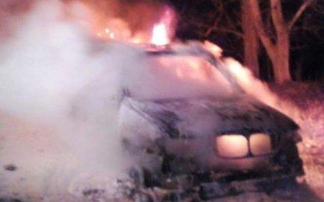 В Иркутске ночью 19 апреля сожгли автомобиль BMW X5