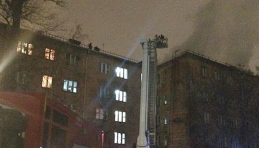 При пожаре вобщежитии насевере Москвы пострадали пять человек