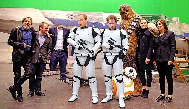 Принцы Уильям иГарри сыграли ввосьмом эпизоде «Звездных войн»