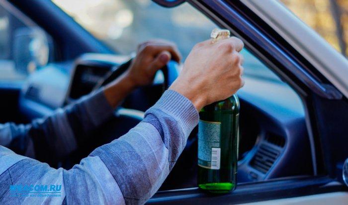В Иркутске за сутки остановлено 40 пьяных водителей