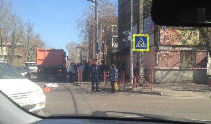 В Иркутске водитель грузовика насмерть сбил на зебре 10-летнюю девочку