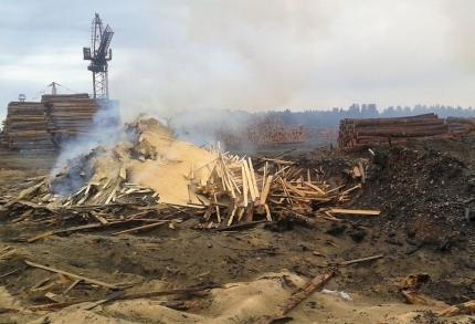 В Чунском районе  на 60 тысяч рублей оштрафованы предприниматели за сжигание отходов лесопиления