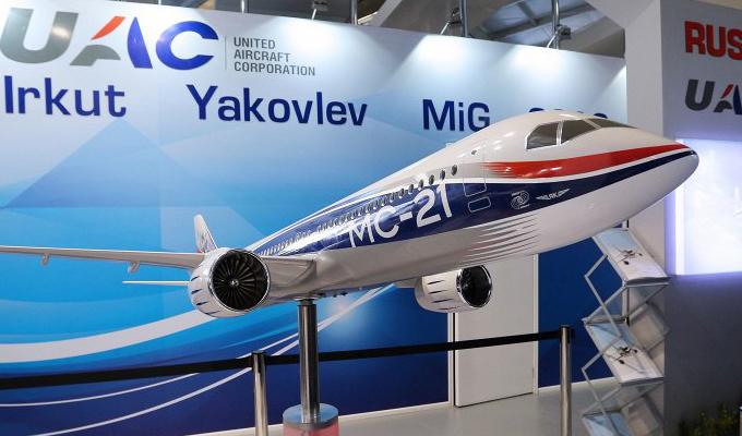 Готовый самолет МС-21 представят в Иркутске 8 июня