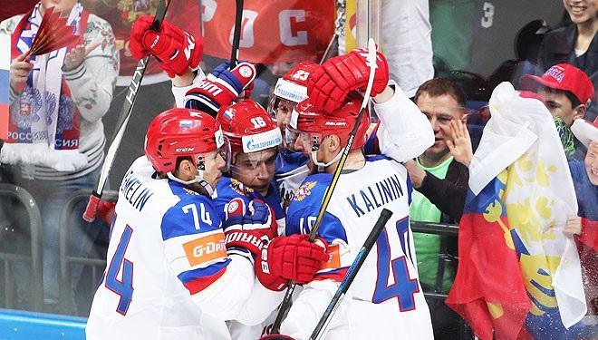 Сборная России разгромила шведов на чемпионате мира по хоккею