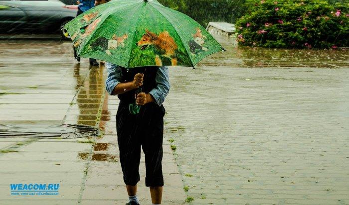 24 мая в Иркутской области ожидаются дожди, грозы и усиление ветра