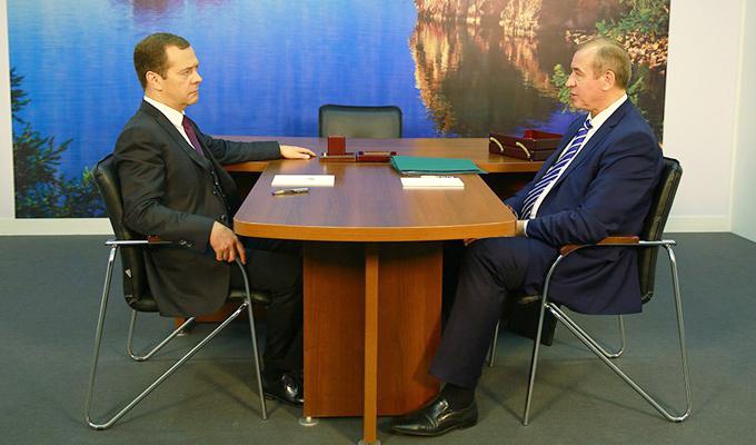 Дмитрий Медведев и Сергей Левченко обсудили на встрече развитие Иркутской области