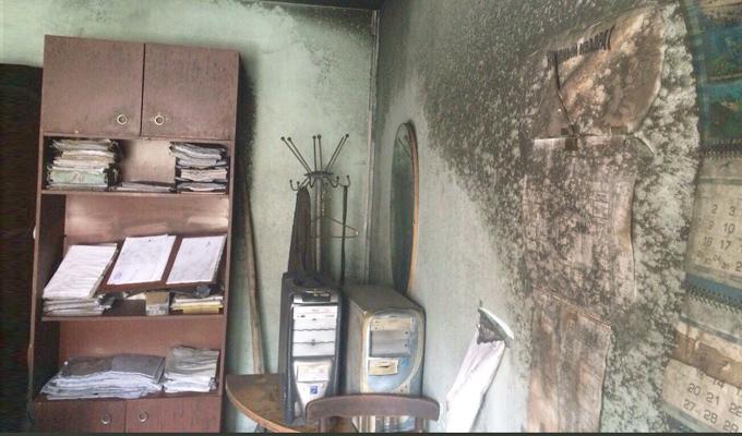 Ночью 9 июня в центре Иркутска сгорел офис