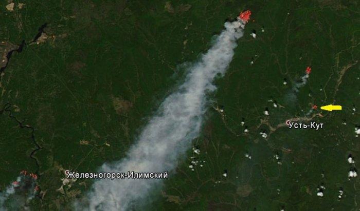 Усть-Кут затянуло дымом из-за лесных пожаров