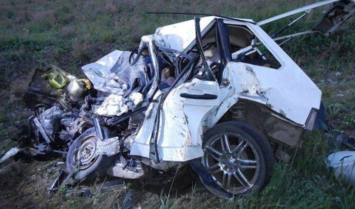 При столкновении машины скраном наавтотрассе «Сибирь» погибли четыре человека