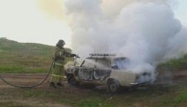 ВКазачинско-Ленском районе сгорел автомобиль