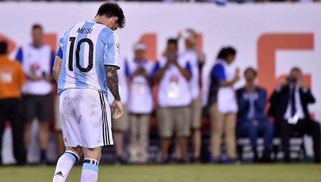 Лионель Месси объявил озавершении карьеры всборной Аргентины пофутболу