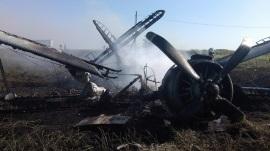 Под Саратовом при обработке полей упал самолет