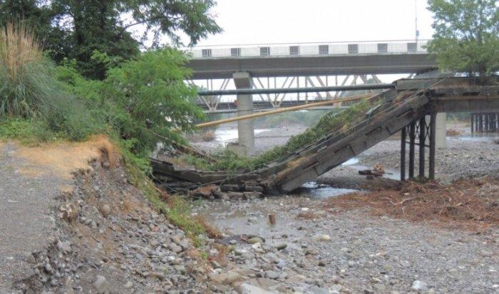 Рухнувший в Сочи мост оставил без газа жителей 300 домов