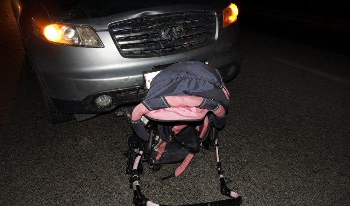 ВЕкатеринбурге водитель Infiniti сбил беременную женщину сдвумя детьми